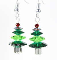Christmas Tree Earring Kit Green 1 pair
