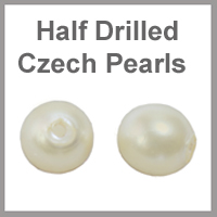 Half Drilled Czech Pearls