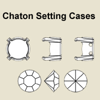 Chaton setting cases 24ss Gold plated 30pcs (Fit table diamonds Swarovski 1028)